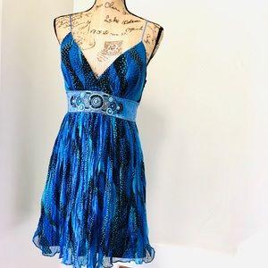 Laundry by Shelli Segal Silk Blue Dress